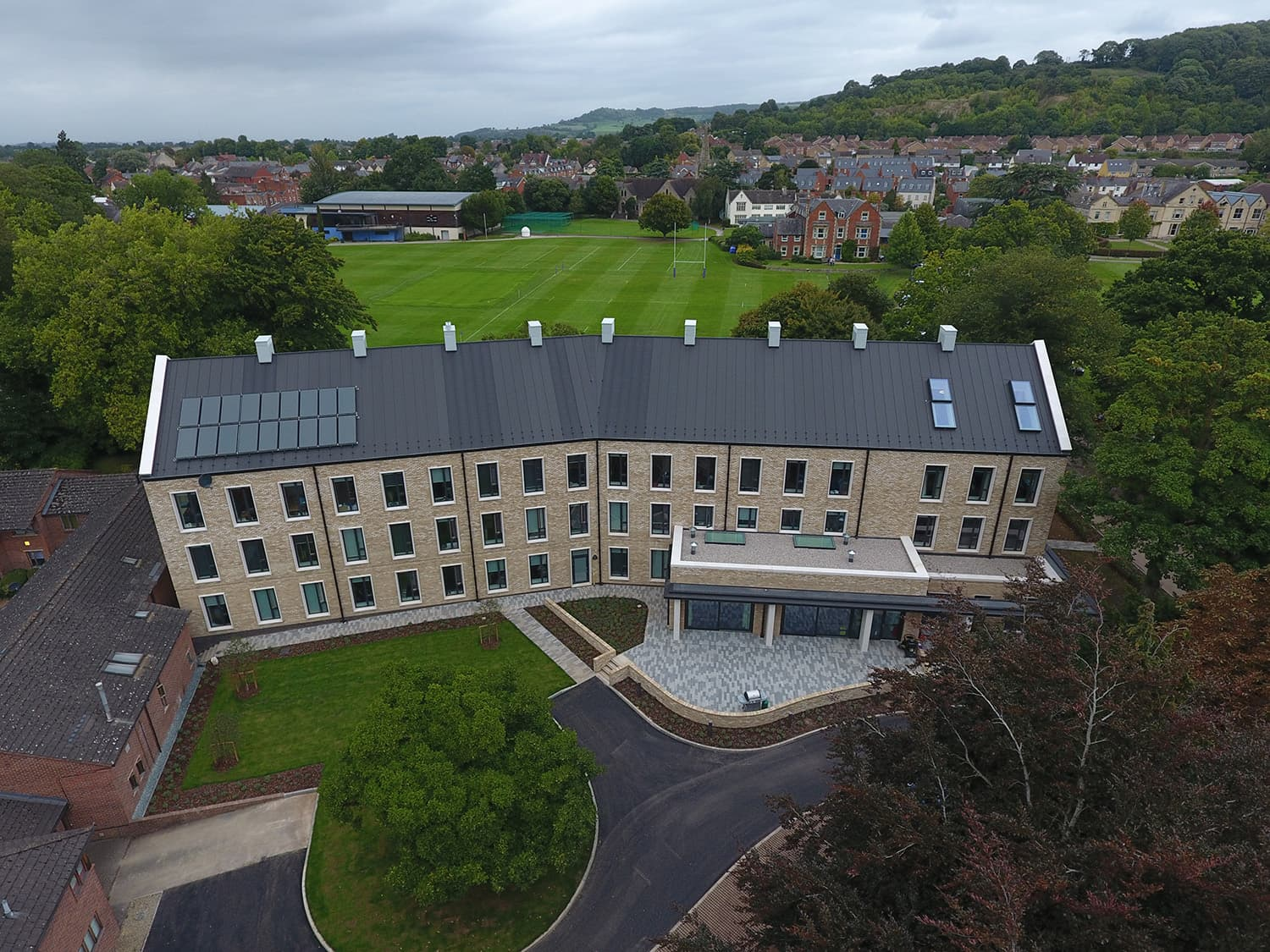Wycliffe Boarding House Aerial View