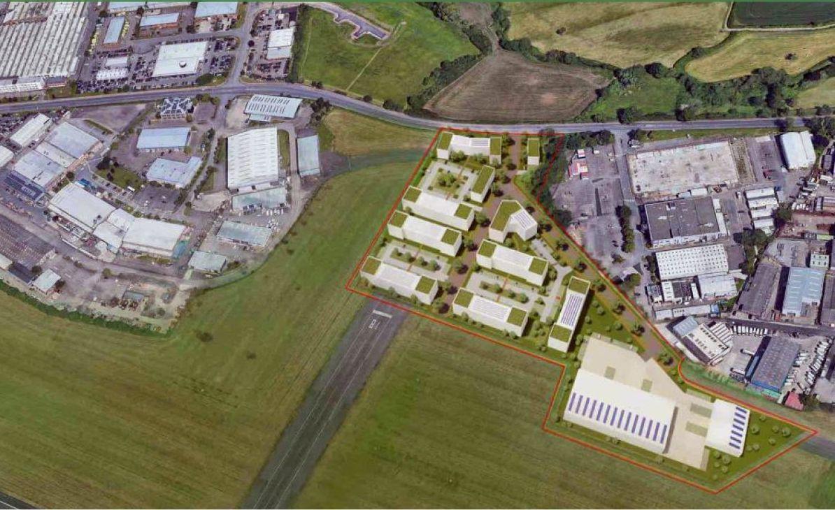 Gloucester Airport birds eye view